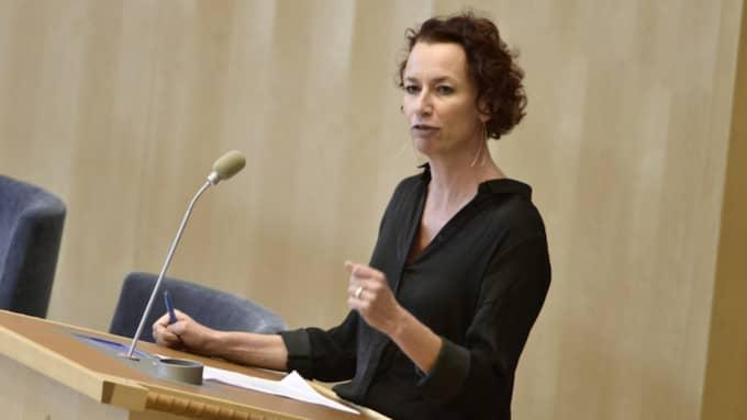 Christina Höj Larsen, Vänsterpartiet. Foto: Claudio Bresciani/TT