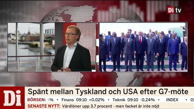 Spänt mellan Tyskland och USA efter G7-möte