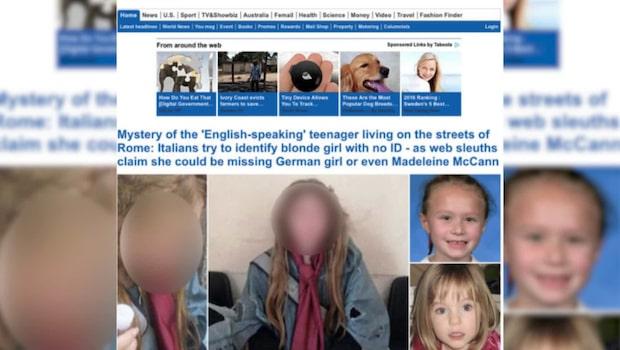 Mystiska flickan i Rom är svensk
