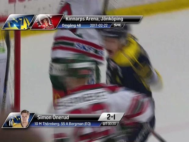 Höjdpunkter: HV71 – Frölunda 2–1 SD
