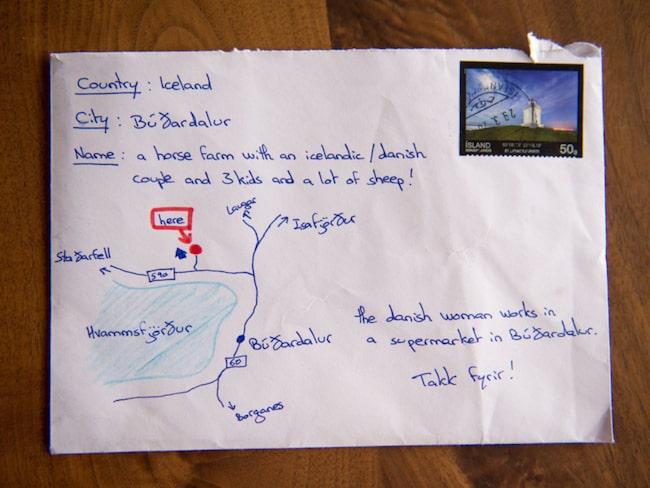 skicka brev sverige