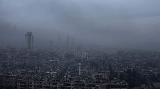 Aleppo är en stad med stora skador. Foto: Hassan Ammar / AP TT NYHETSBYRÅN
