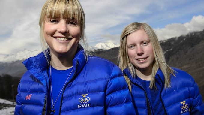 Sandra Näslund tillsammans med Anna Holmlund under OS i Sotji. Foto: DANIEL STILLER / BILDBYRÅN / BILDBYRÅN