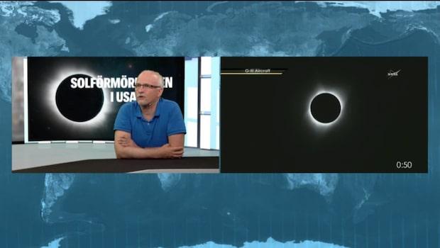 Solförmörkelsen - bilder från de första kamerastationerna.