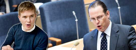 FÅR KRITIK. Enligt Gustav Fridolin borde finansminister Anders Borg ägna mer kraft åt klimatfrågan.