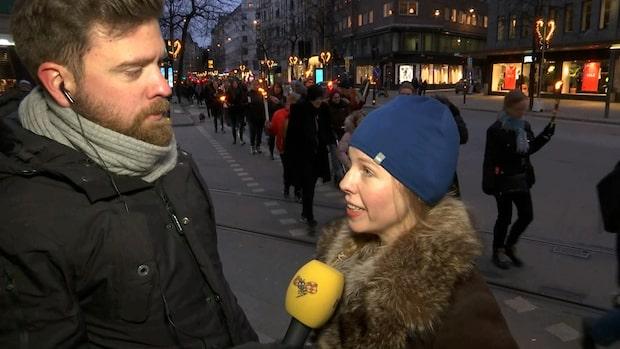 Ljusmanifestation för #metoo i hela Sverige