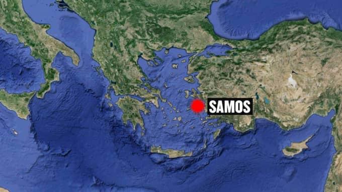 Elva personer drunknade nära den grekiska ön Samos.