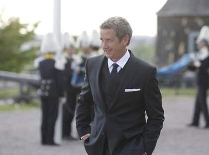 Martin Timell på plats på Skansen som programledare för Nationalsdagsfirandet. Foto: Nils Petter Nilsson