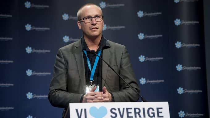 Sverigedemokraternas viktiga Skånedistrikt, där Mikael Eskilandersson ingår, har varit ett problemområde i flera mandatperioder. Foto: SVEN LINDWALL