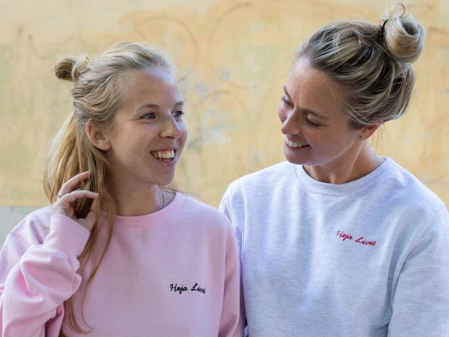 Carro Levy och Emely Crona Stenberg ligger bakom nätverket Heja Livet.