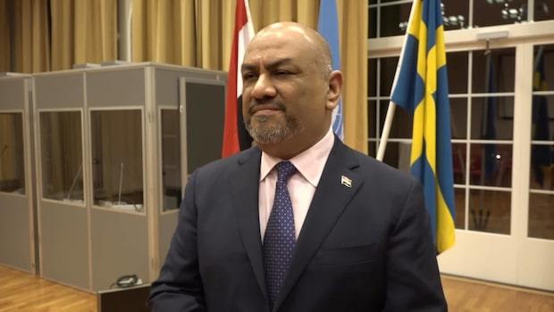 """Jemens utrikesminister: """"Det verkar att Stockholm är en väldigt optimistisk plats"""""""