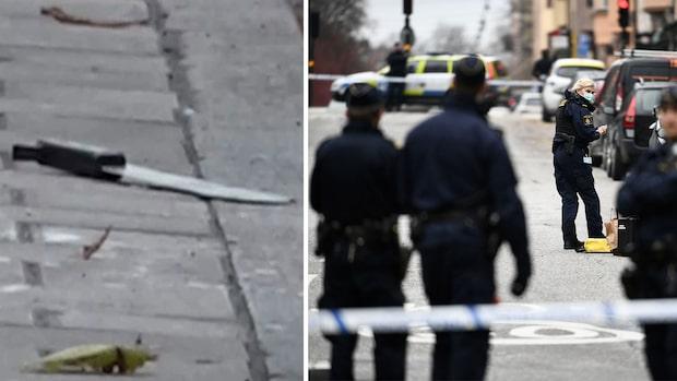 Dömd mördare höggs blodig med machete