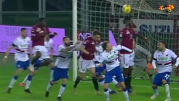 Sampdoria fick till en drömträff – men Torino kom tillbaka