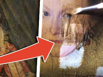 399 år gammal tavla rengörs - det som dyker upp är häpnandsväckande
