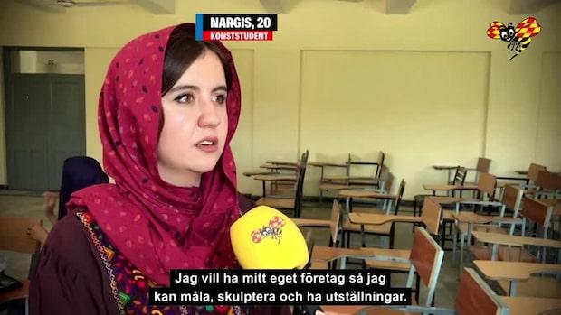 """Nargis, 20: """"Vi vill ha fred och säkerhet i Afghanistan"""""""