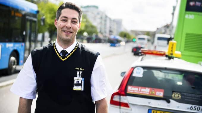 Dan Sheingold körde oss Göteborgsvarvet runt i sin taxibil och kommer att finnas på plats under loppet för att erbjuda skjuts till målet för de deltagare som väljer att bryta loppet. Foto: Robin Aron