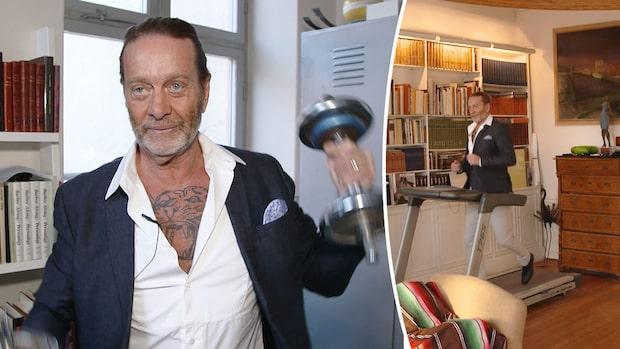 Björn Ranelid visar upp lägenheten i Stockholm