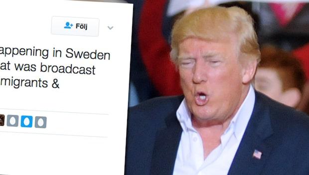 Vita huset kommenterar Trumps Sverige-utspel