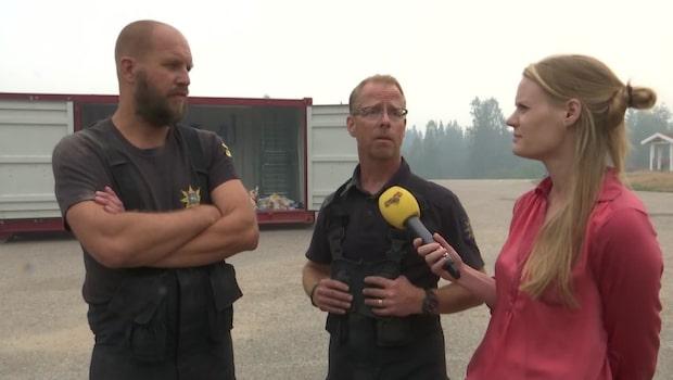 """Frivilliga brandmannen: """"Maktlöshet. Det brinner precis överallt"""""""