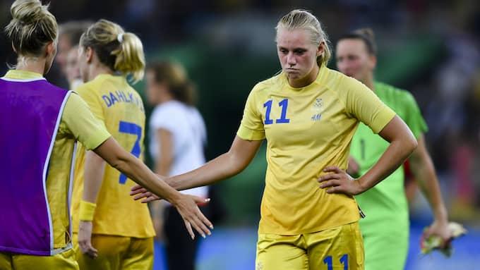 Stina Blackstenius deppar efter förlusten mot Tyskland i OS. Foto: DANIEL STILLER / BILDBYRÅN