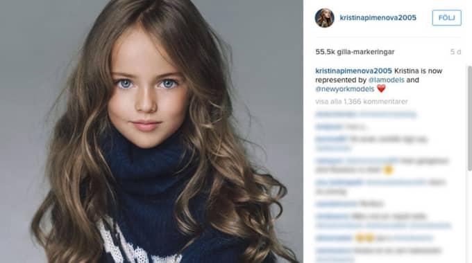 Kristina Pimenova har fått modellkontrakt.