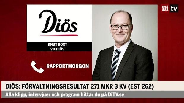 """Knut Rost vd Diös: """"Stark marknad på kontorssidan"""""""
