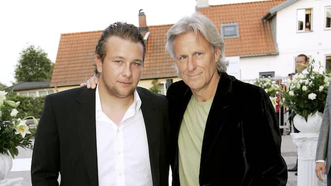Robin Borg tillsammans med pappa Björn. Foto: SVEN LINDWALL
