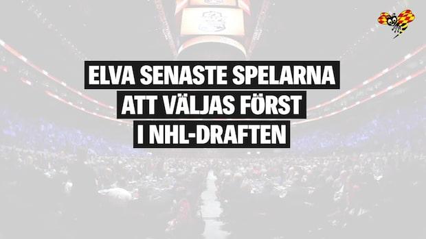 Elva senaste spelarna att väljas först i NHL-draften