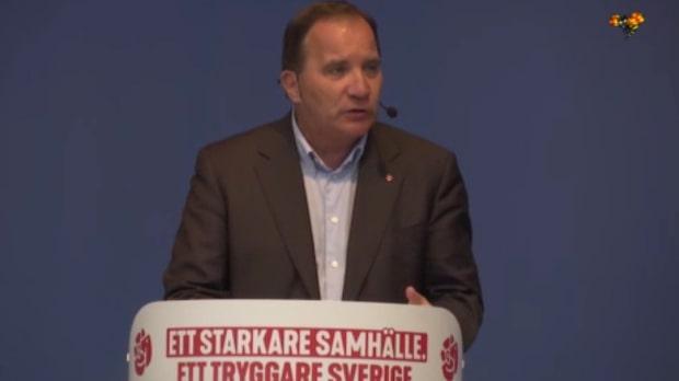 """Stefan Löfven: """"Valet är en folkomröstning om välfärden"""""""