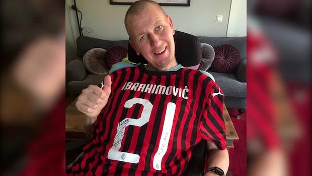 Zlatans stöd till ALS-sjuke Martin