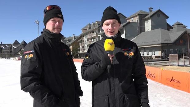 Tomas Pettersson och Ludvig Holmberg inför damstafetten