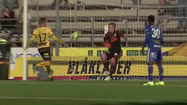Supermålvaktstavla när Elfsborg vänder