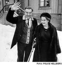 Gunnar Myrdal med hustrun Alva Myrdal. Foto: HELLBERG FOLKE