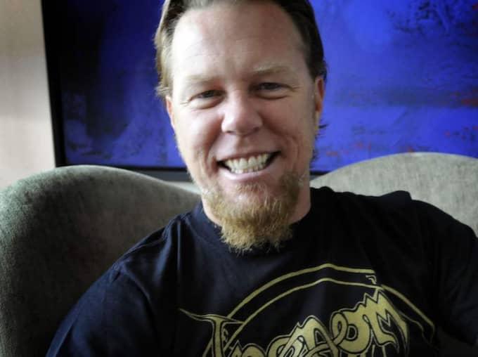 """I en exklusiv intervju berättar bandets sångare James Hetfield att den svenska popkvartetten hittat in i deras turnébuss. """"Abba är den ultimata feelgoodmusiken. Alla blir på bra humör när man sätter på deras låtar, gammal som ung"""", säger han till Expressen. Foto: Christer Wahlgren"""