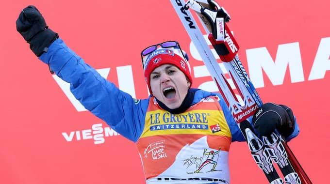 Heidi Weng. Foto: Andrea Solero / AP TT NYHETSBYRÅN