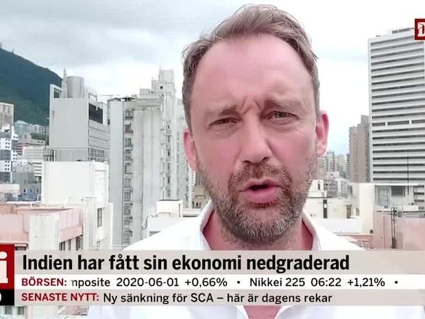 """Asienkorrespondenten: """"Indiens ekonomi kan falla med 4 %"""""""