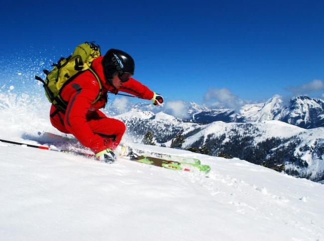 Alexander Maier, lillebror till fartfantomen Hermann, visar att även han är vass på skidor.