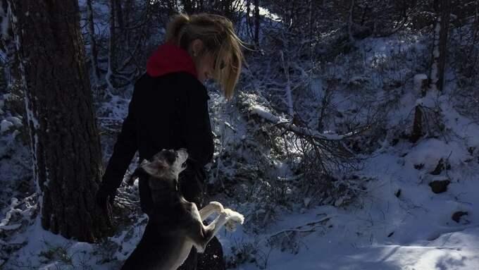 Beatrice och hennes hund.