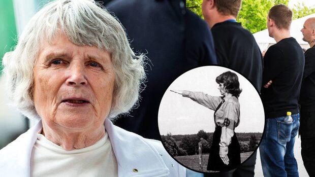 Vera Oredsson, 89, i Almedalen med nazistiska NMR