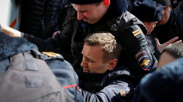 Oppositionsledare gripen i Ryssland