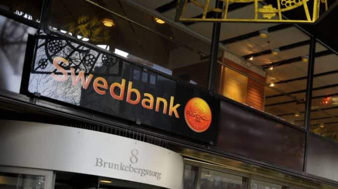 Swedbank redovisar en svagare rapport än väntat. Foto: Jessica Gow / Tt