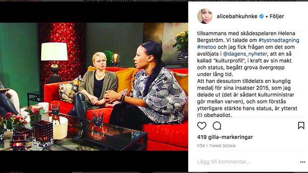 Alice Bah Kuhnke vill dra tillbaka kungamedalj