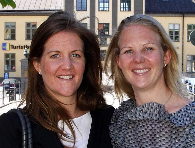 LUNDBERGSDÖTTRAR. Lillasyster Katarina Martinson och storasyster Louise Lindh är arvtagerskor till ett av Sveriges största företagsimperier.