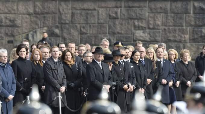 Den nationella tysta minuten utlystes av Statsminister Stefan Löfven i lördags. Foto: / Anna-Karin Nilsson