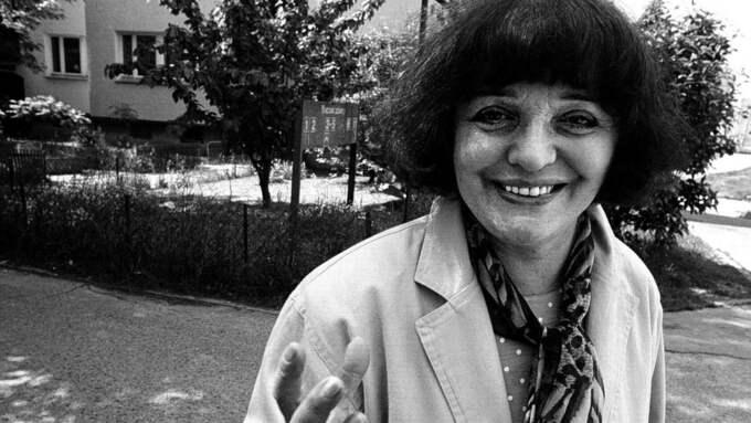 """""""Människor utan minnen är sjuka"""", tycker Hanna Krall som har beskrivit och återskapat en förintad värld och återskapat den rika judiska kultur som fanns före kriget. Foto: INGVAR ANDERSSON"""