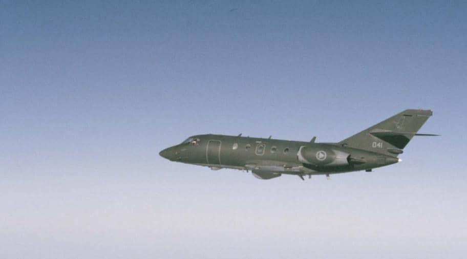 DA 20 används av Nato och flög över Östersjön när bilden togs. Foto: Försvarsmakten