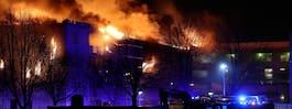 JUST NU: Våldsam brand – 100 personer evakuerade