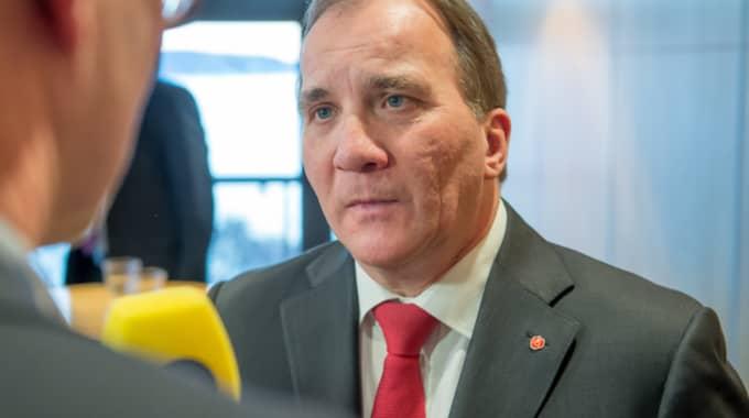 Stefan Löfven kommenterar skandalerna kring Kommunal. Foto: Pelle T Nilsson/AOP