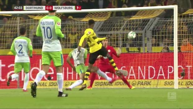 Alexander Isak nära drömmål mot Wolfsburg