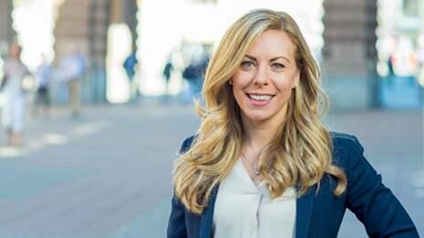 Jessica Rosencrantz är trafikpolitisk talesperson för Moderaterna. Foto: FREDRIK WENNERLUND